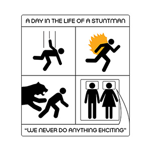 A Day In The Life Of A Stuntman Illustration