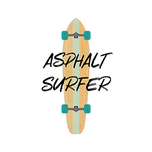 Asphalt Surfer 1 Longboard Illustration