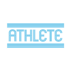 Athlete Typography Design