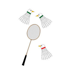 Badminton Cock Shuttles Illustration