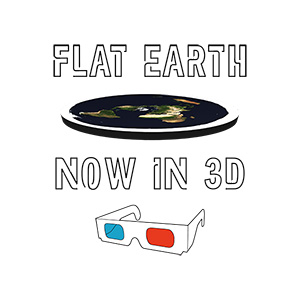 Flat Earth Now In 3D Illustration