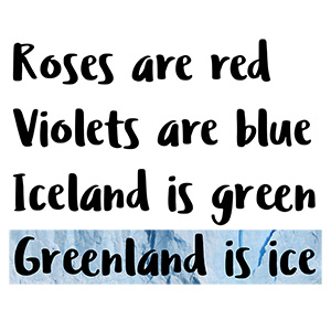 Greenland Is Ice Typography Design