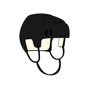 Hockey Helmet Illustration