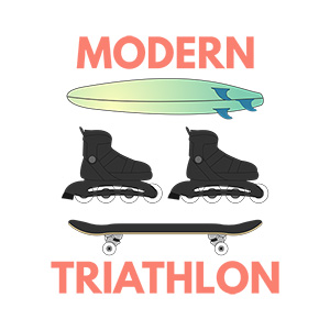 Modern Triathlon Illustration
