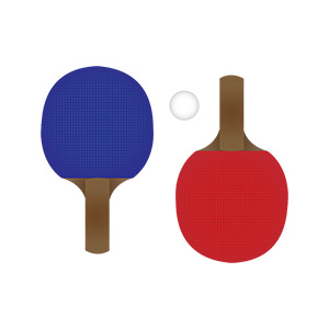 Ping Pong Rackets Illustration