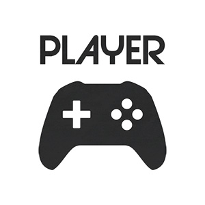 Player Text And Gamepad Illustration