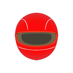 Racing Helmet Illustration