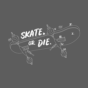Skate Or Die Illustration
