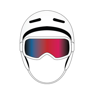 Snowboard Helmet And Goggles Illustration