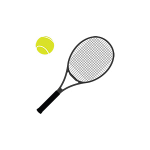 Tennis Racket And Ball Illustration 1