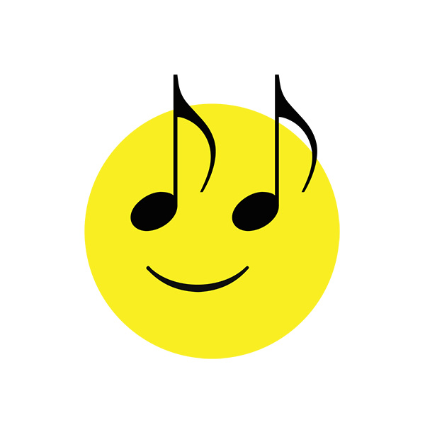 Happy Music Face Illustration