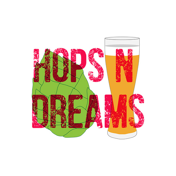 Hops And Dreams Typography Design