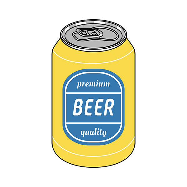Yellow and Blue Pop Art Beer Illustration