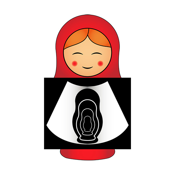 Pregnant Matryoshka Illustration