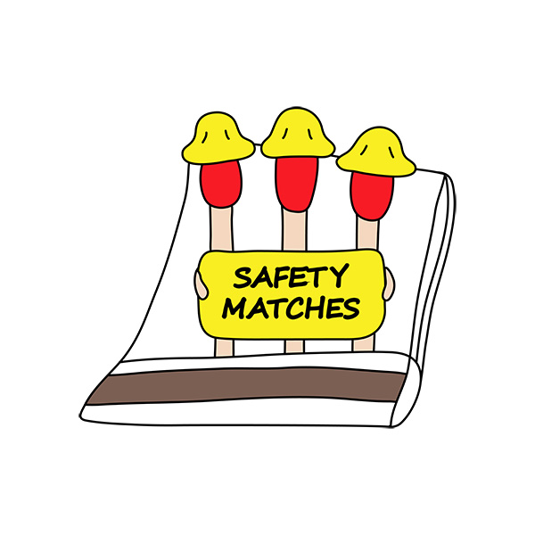 Safety Matches Illustration