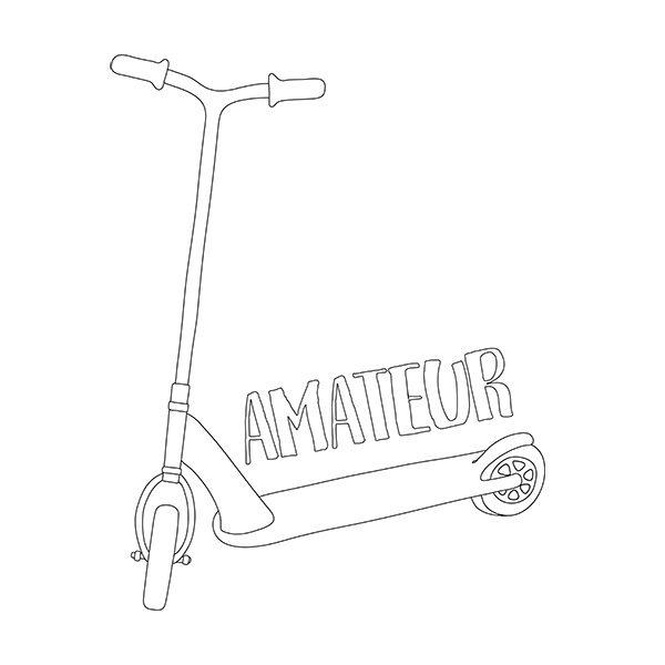 Scooter Amateur Illustration