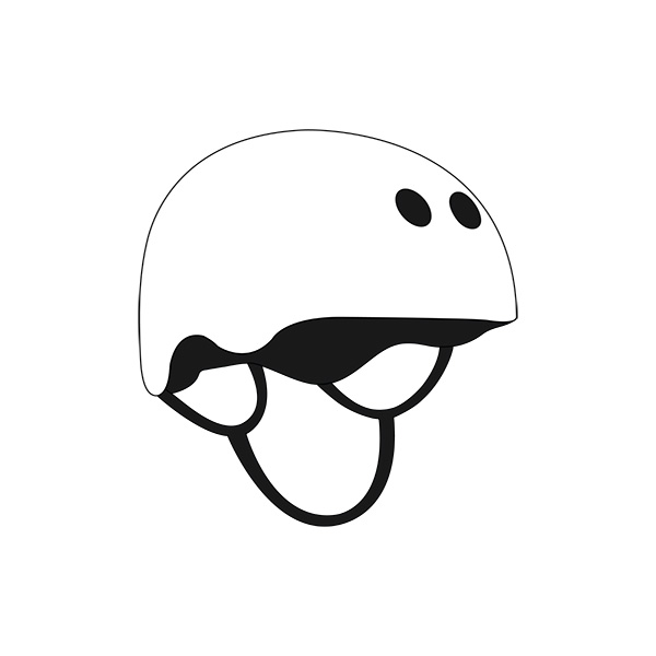 Skateboard Helmet Illustration