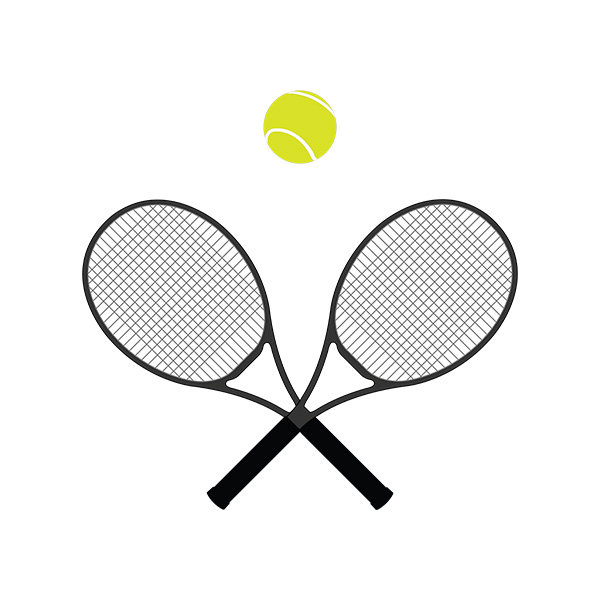 Tennis Racket And Ball Illustration 2
