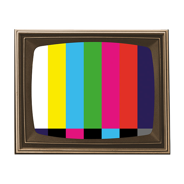 TV Color Bars Frame Collage